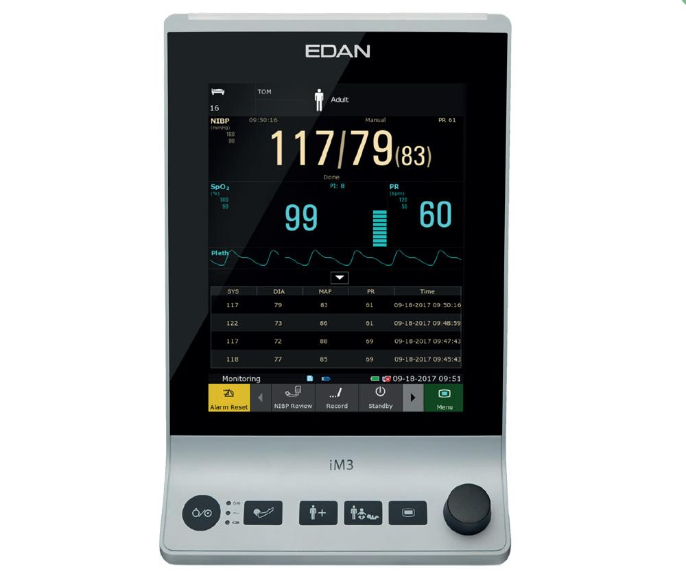 EDAN iM3 vital sign monitor 1000px