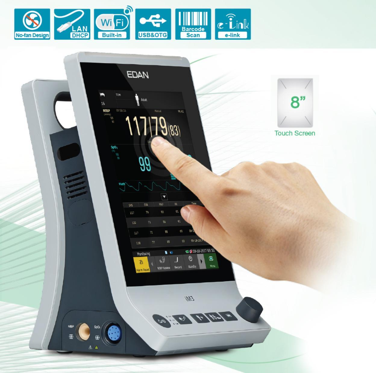 EDAN iM3 vital sign monitor touch screen wireless 500px