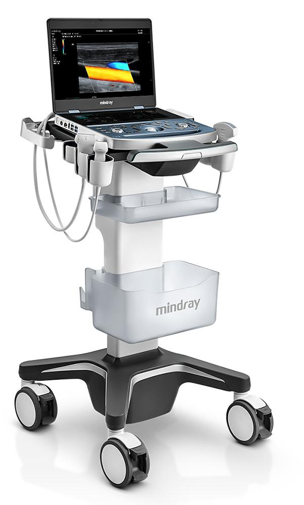 mindray MX7 ultrasound machine for sale on trolley cart diagnostic doppler scanner for general imaging cardiovascular and OB GYN examinations